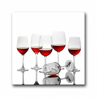 Модульная картина для столовой Вино в бокалах