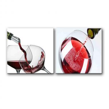 Модульная картина для столовой Бокал с вином