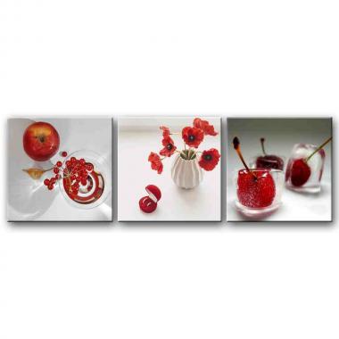 Вишня,яблоки,маки