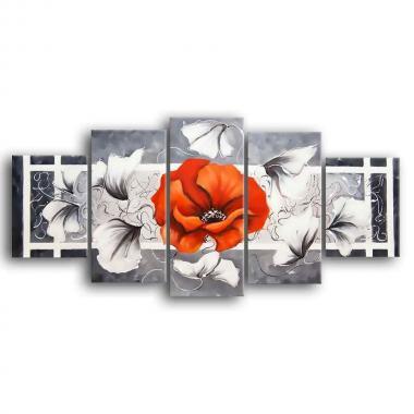 Модульная картина Цветы живопись